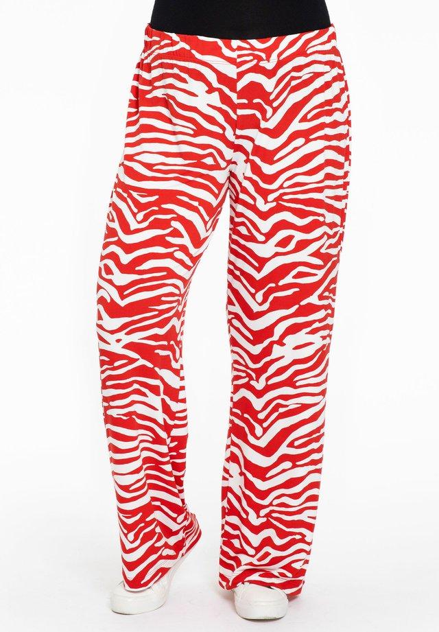 ANIMAL PRINT - Pantalon classique - red