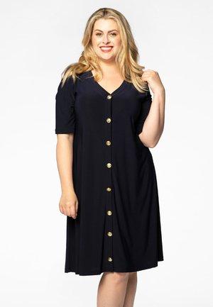 SHORT SLEEVE - Shirt dress - navy