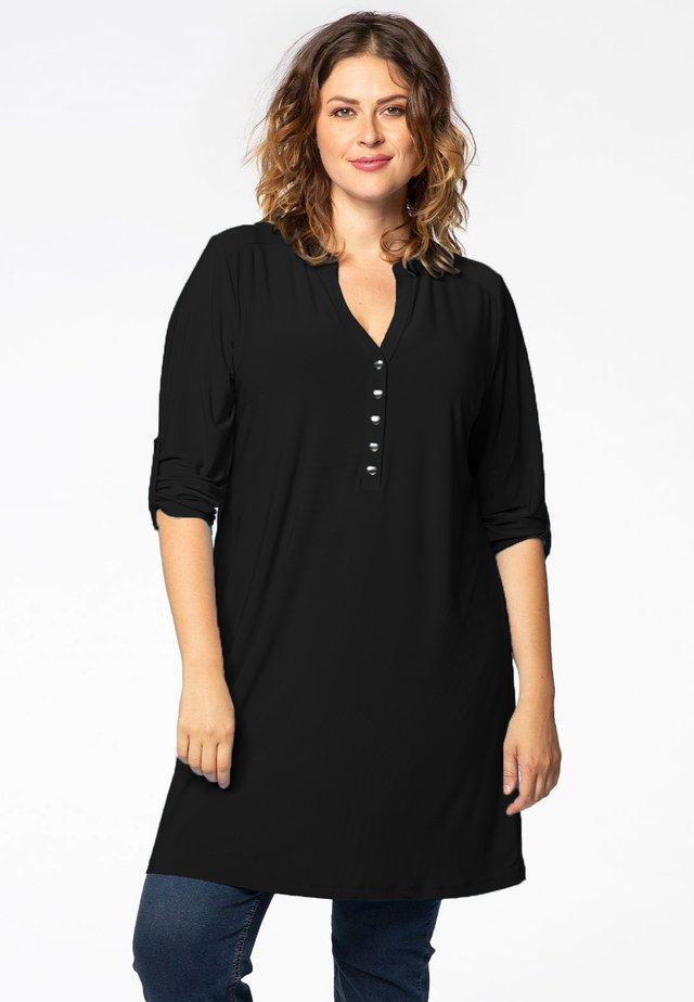 BUTTON UP SLEEVES - Tunic - black