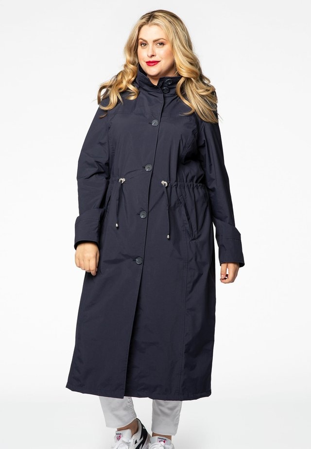 WITH BUTTONS - Parka - navy