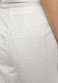 YAS - BRIDAL YASBEO PANT NEW - Trousers - star white - 5