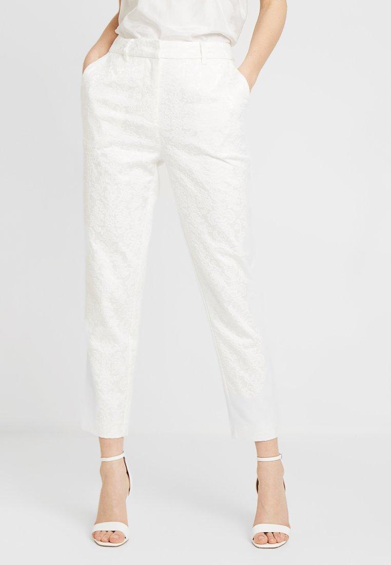 YAS - BRIDAL YASBEO PANT NEW - Spodnie materiałowe - star white