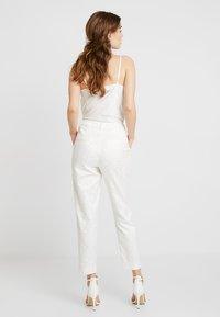 YAS - BRIDAL YASBEO PANT NEW - Spodnie materiałowe - star white - 2