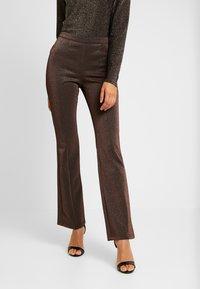 YAS - YASLEA FLARED PANT - Bukse - copper colour - 0