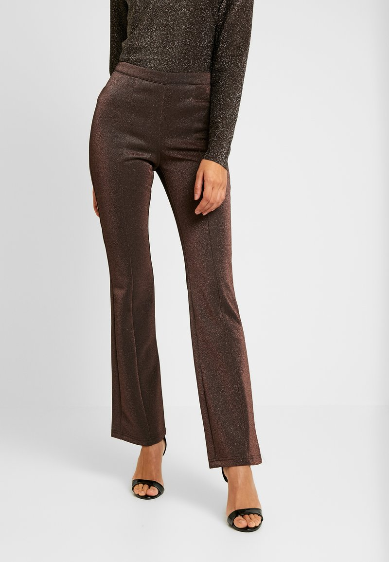 YAS - YASLEA FLARED PANT - Bukse - copper colour