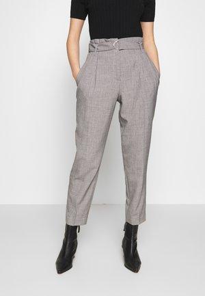 YASJENNIFER CROPPED PANT - Trousers - dark grey melange