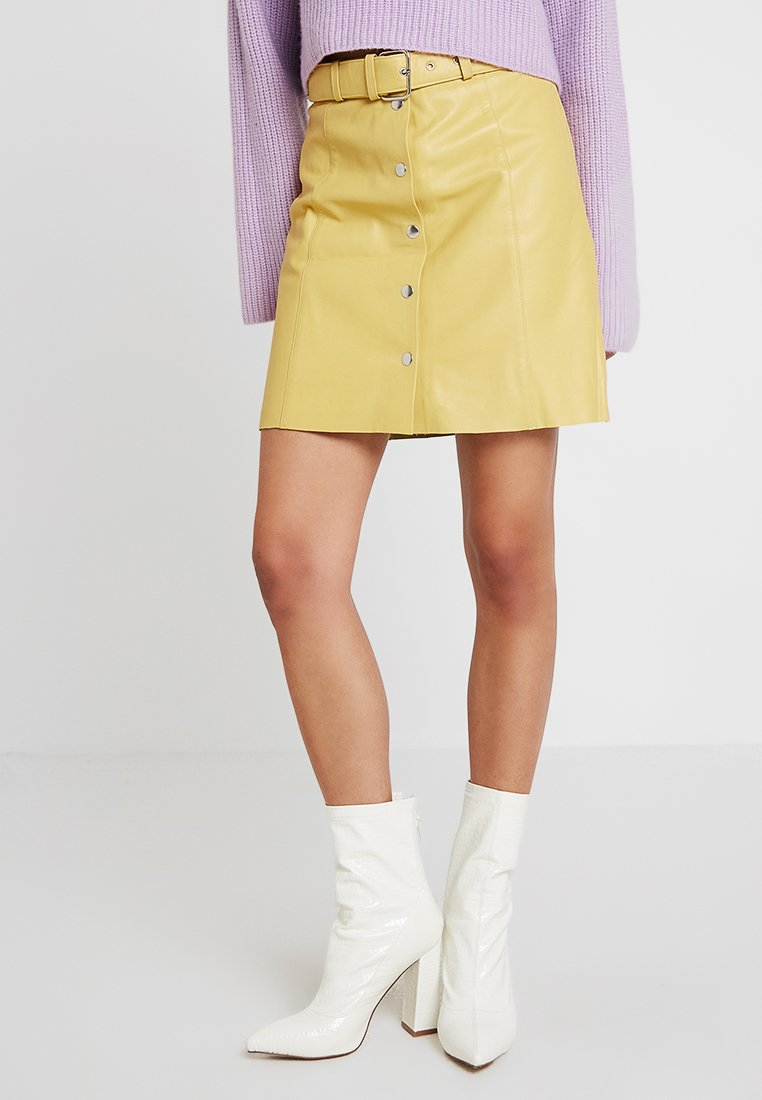 YAS - YASHARRIET SKIRT - A-Linien-Rock - misted yellow