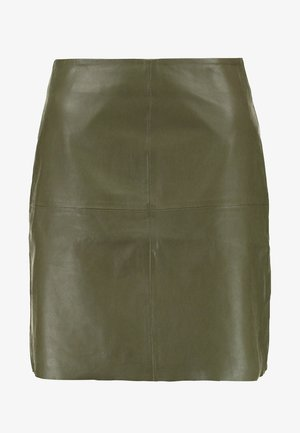 YASHANNAH LEATHER SKIRT - Leather skirt - beetle