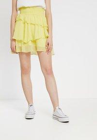 YAS - YASMASHA SKIRT - A-line skirt - yellow cream - 0