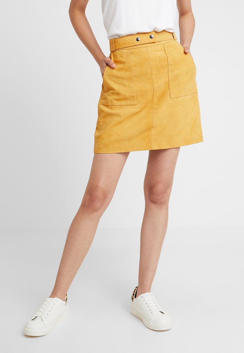 YAS - YASLILIE SKIRT - Lederrock - sunflower