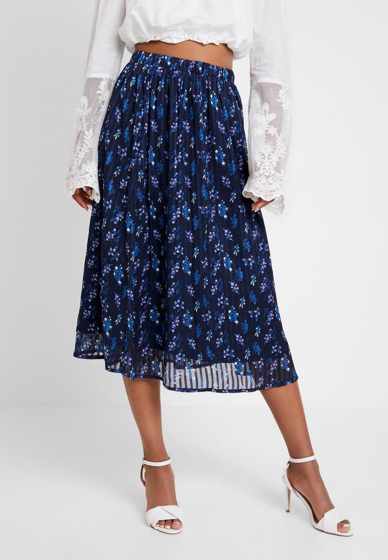 YAS - YASRICHA SKIRT - Maxi skirt - navy blazer