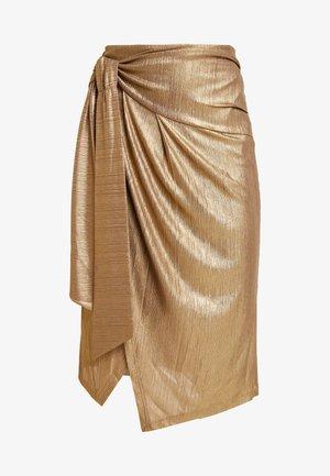 YASTIKKA SKIRT - Pencil skirt - gold colour