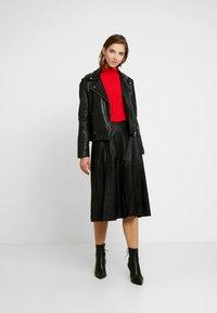 YAS - A-line skirt - black - 1