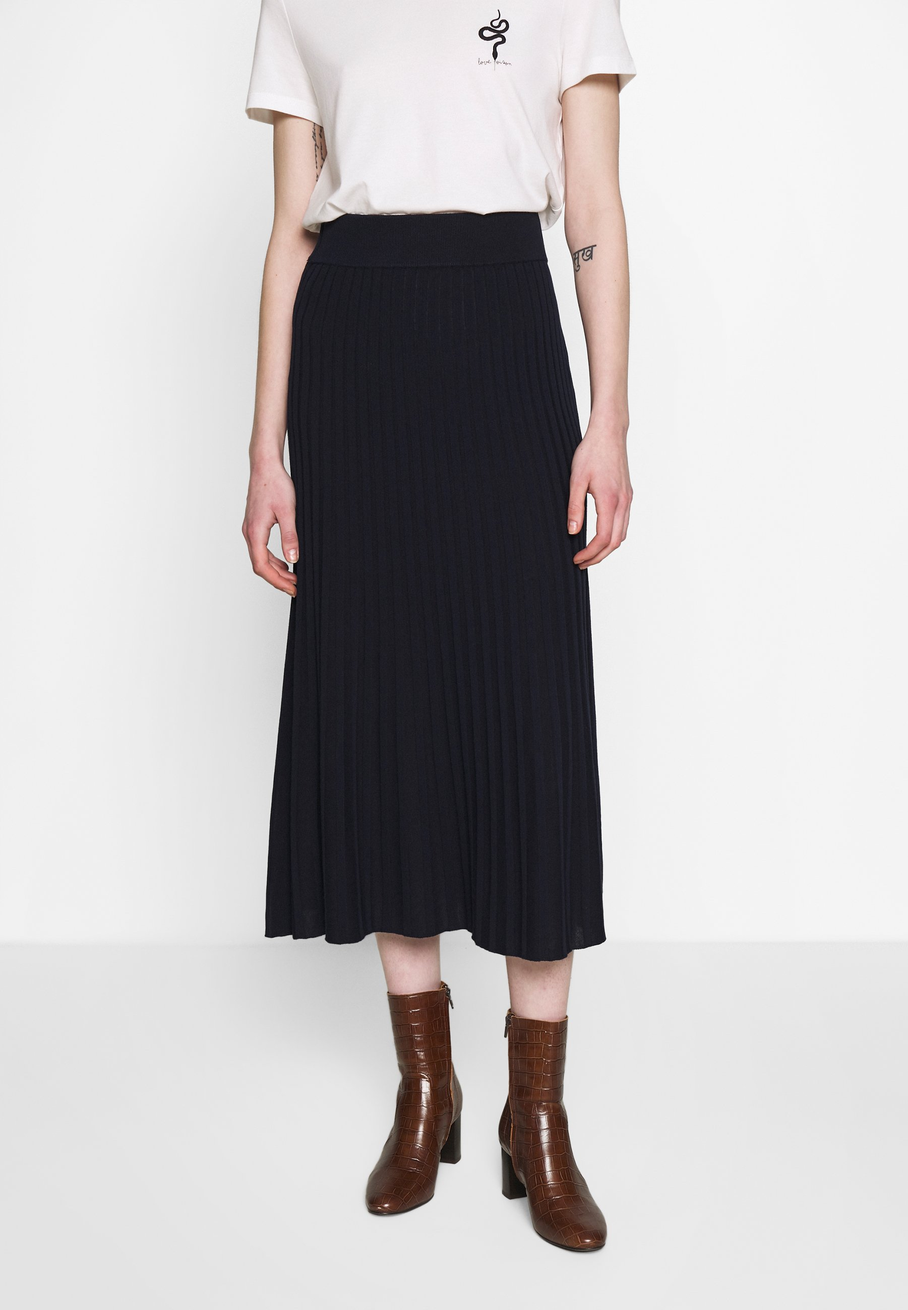 Yas Yasfeline Midi Skirt - A-lijn Rok Dark Sapphire TpAuq1mq