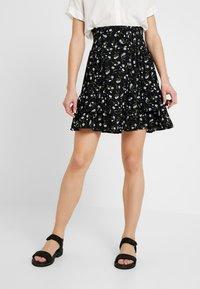 YAS - DAISY SKIRT - Áčková sukně - black - 0