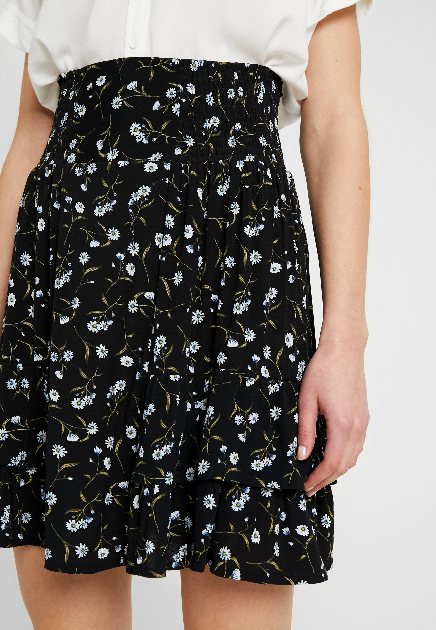 Yas Daisy Skirt - A-lijn Rok Black 2hGYCe7L