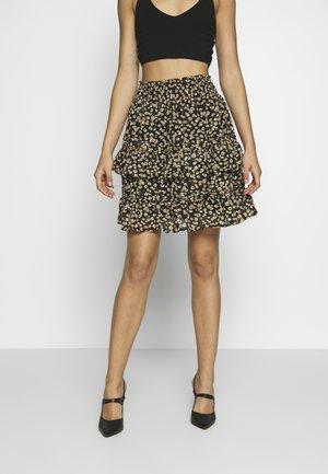 YASCLARIS SKIRT - A-line skirt - black