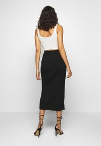 YAS - YASLINA HW SKIRT - Pencil skirt - black - 2