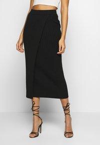 YAS - YASLINA HW SKIRT - Pencil skirt - black - 0