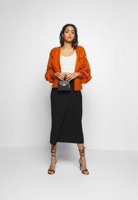 YAS - YASLINA HW SKIRT - Pencil skirt - black - 1