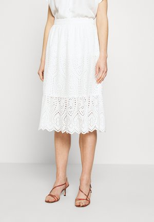 YASHOLI MIDI SKIRT - A-Linien-Rock - star white