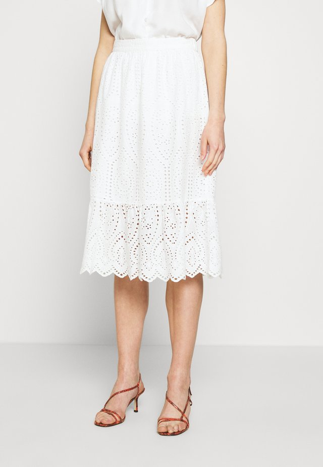 YASHOLI MIDI SKIRT - A-linjainen hame - star white