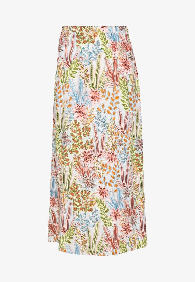 YASBOTANICA LONG SKIRT - Áčková sukně - eggnog/botanica