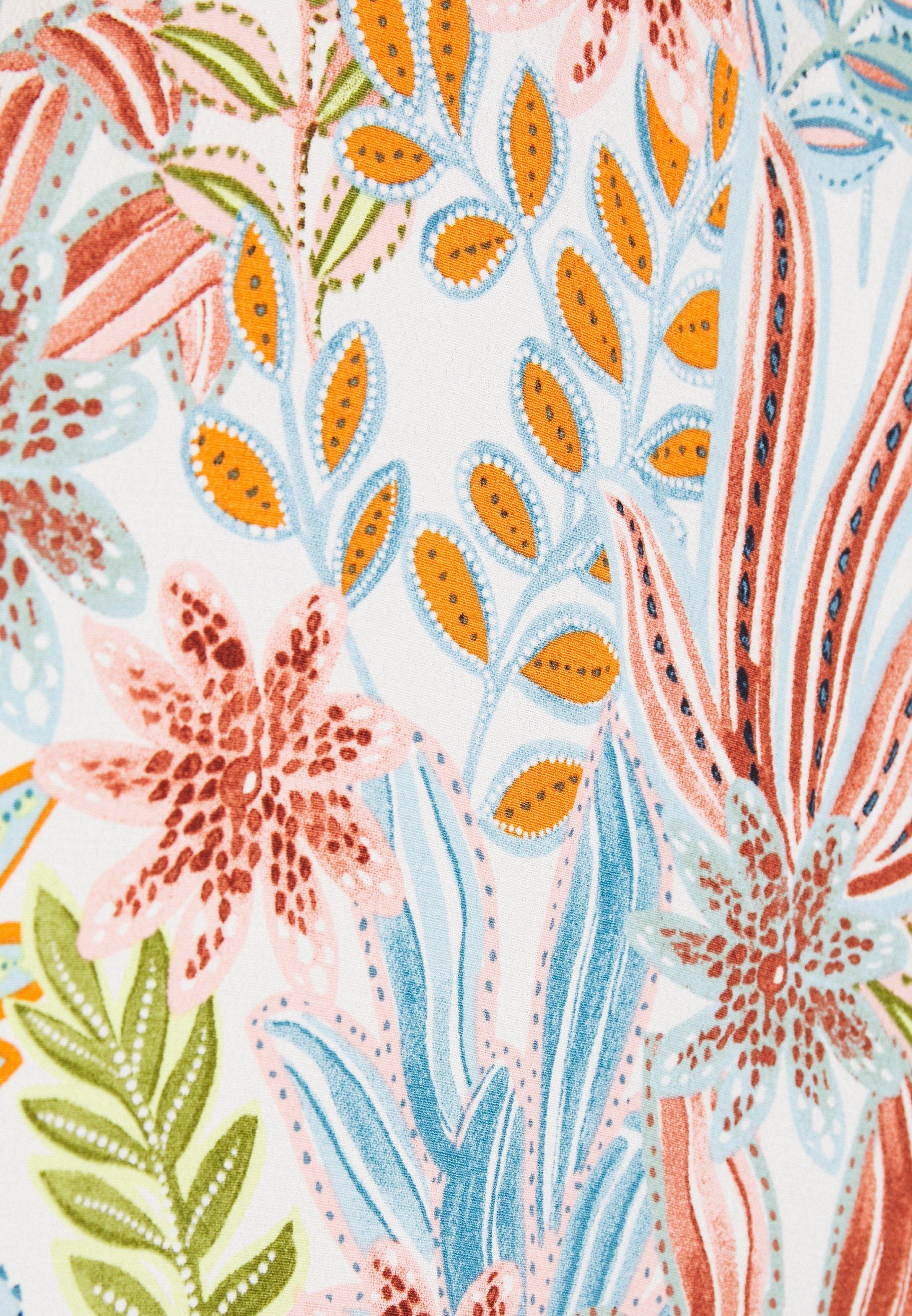 Yas Yasbotanica Long Skirt - A-lijn Rok Eggnog/botanica