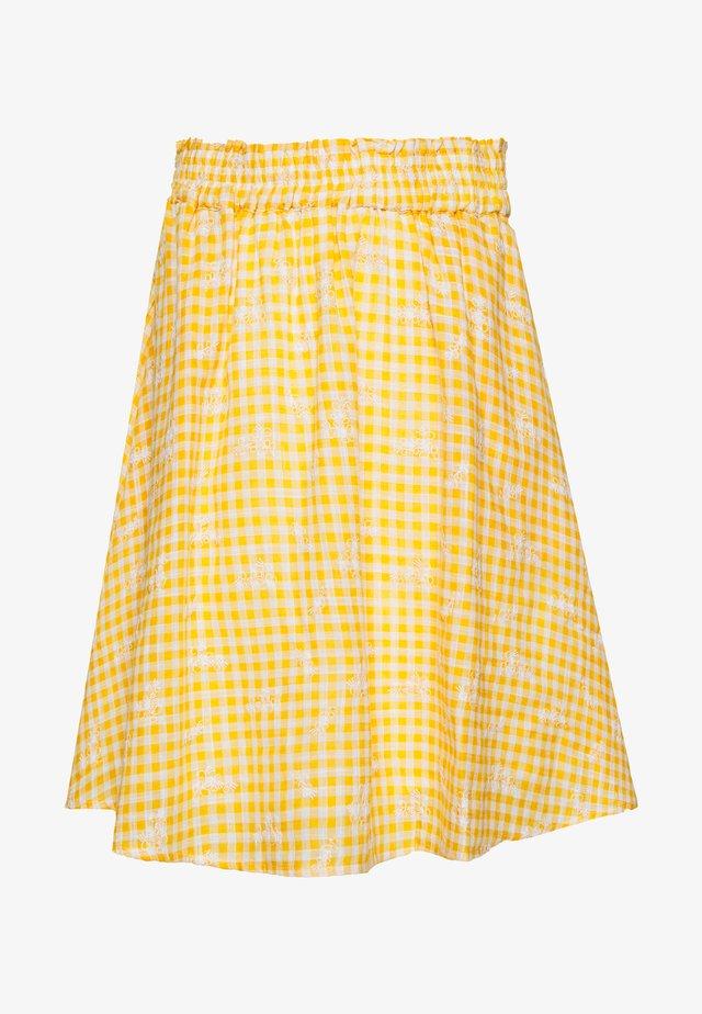 YASMANVI SKIRT - Spódnica trapezowa - cadmium yellow/star