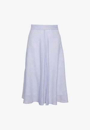 YASCLOUD MIDI SKIRT - A-line skirt - dark denim/star white