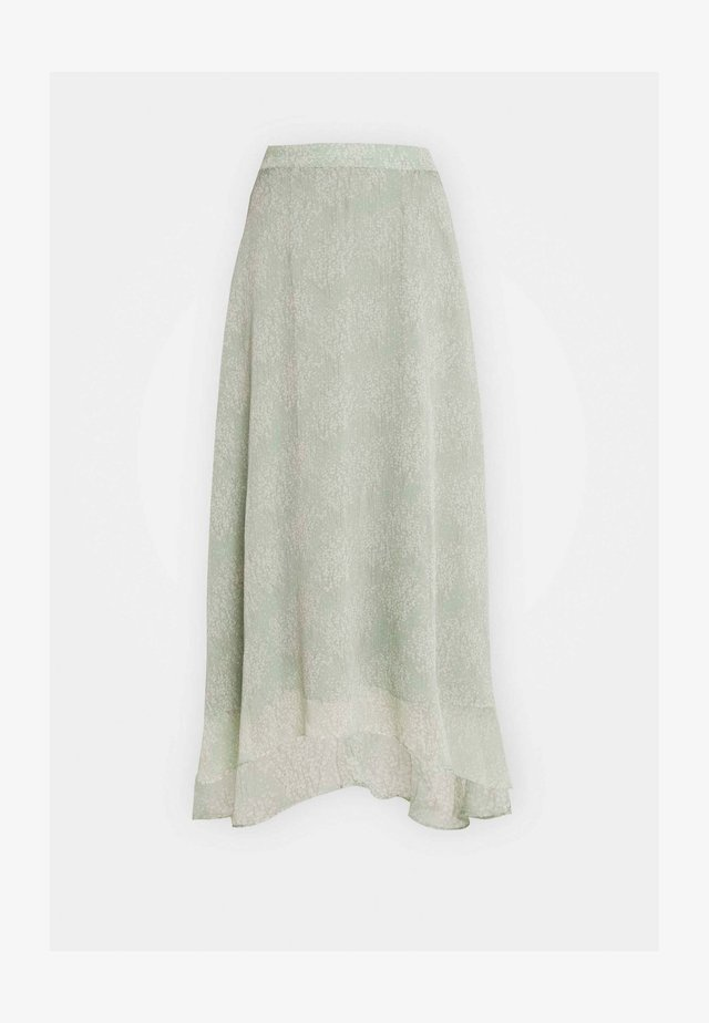 YASALICE HIGH LOW SKIRT SHOW - Maxi sukně - misty jade