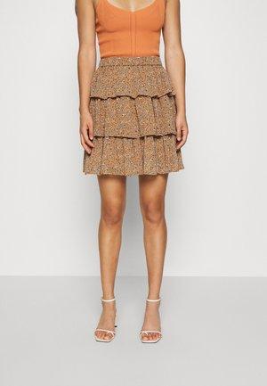 YASANEMONE SKIRT  - A-line skirt - tawny brown/anemone
