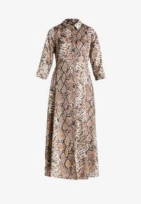 YAS - YASANIMA LONG SHIRT DRESS SNAKE - Maxi-jurk - black - 5