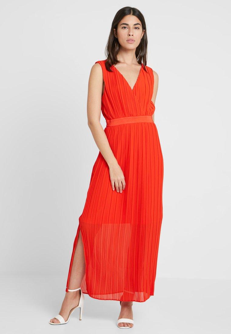 YAS - YASTIANA WRAP ANKLE DRESS - Maxi dress - fiery red