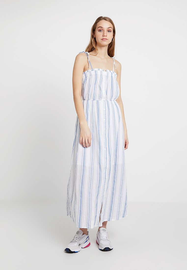 YAS - YASMARBELLO STRAP DRESS - Maxikleid - star white/blue