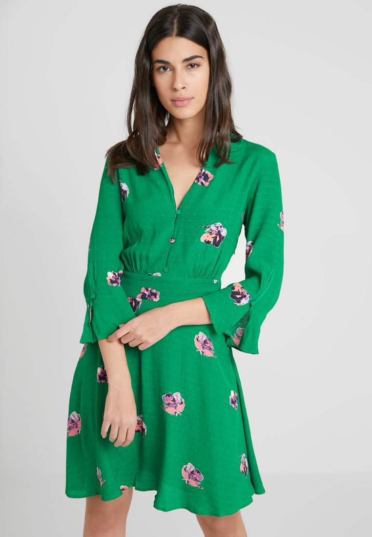 YAS - YASAVIRALA  - Blusenkleid - verdant green/avirala print