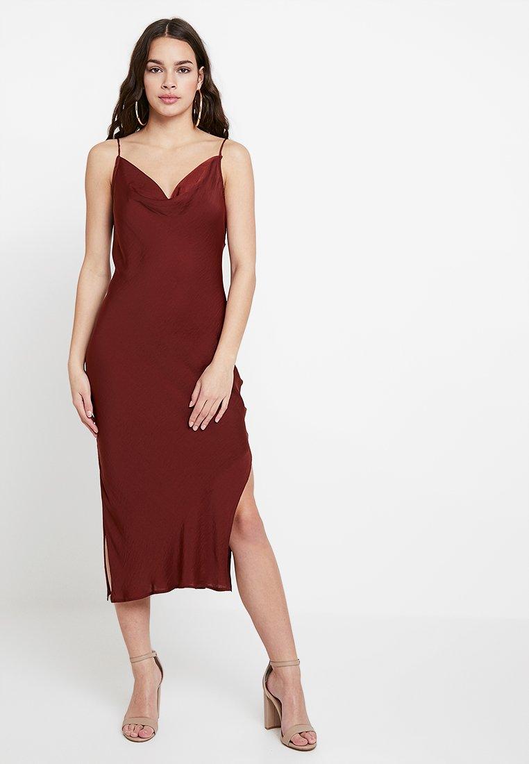 YAS - YASSPAGO DRESS - Vestido largo - mocha bisque