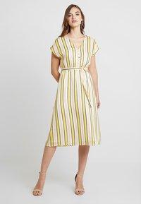 YAS - YASPOSITANO DRESS - Denní šaty - star white - 0