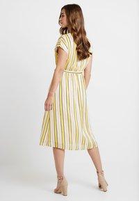 YAS - YASPOSITANO DRESS - Denní šaty - star white - 3