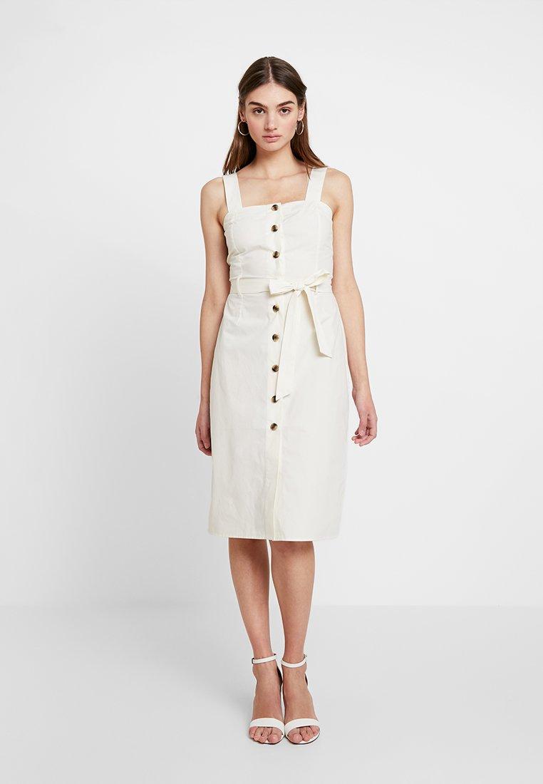 YAS - YASMADDOX DRESS ICONS - Shirt dress - vanilla ice
