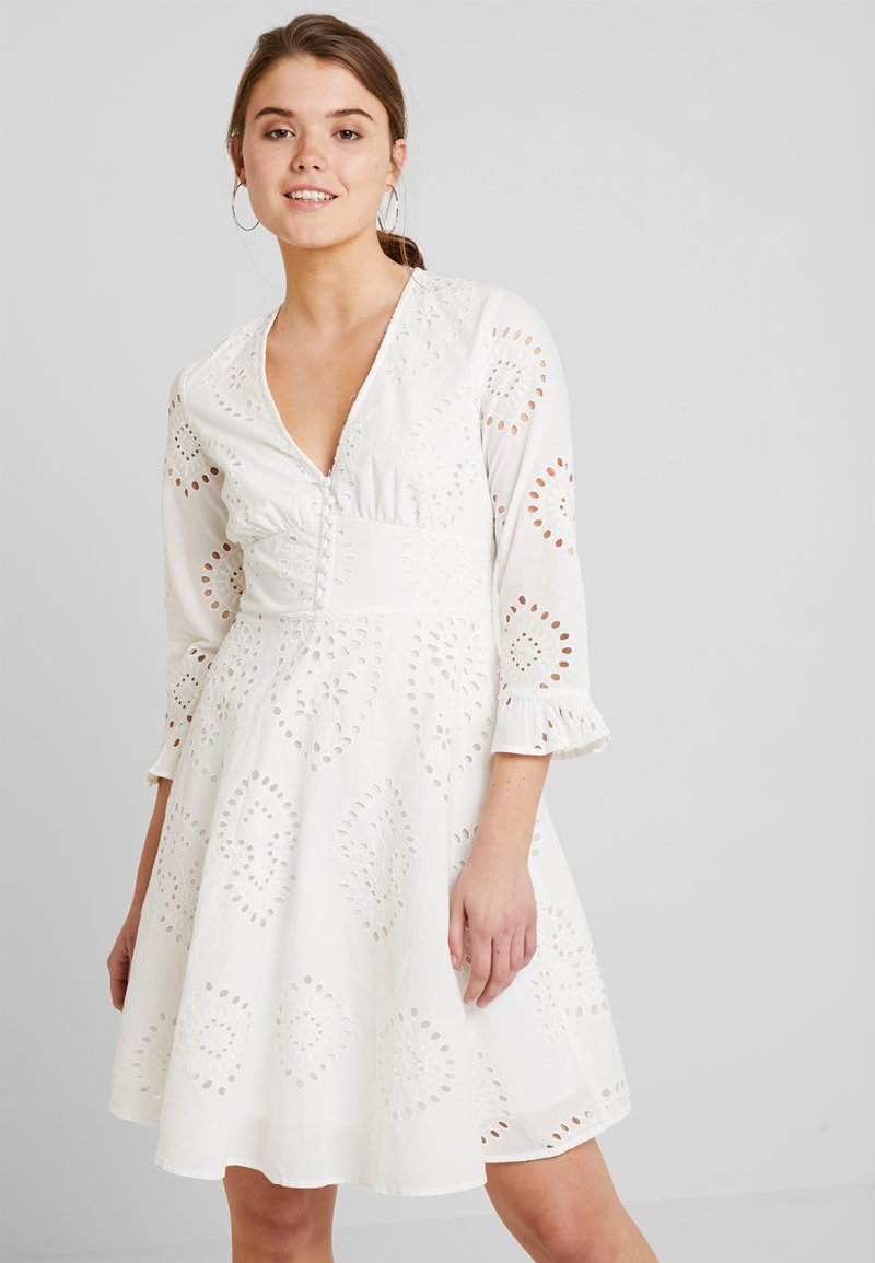 YAS - YASANGLAISE DRESS - Shirt dress - star white