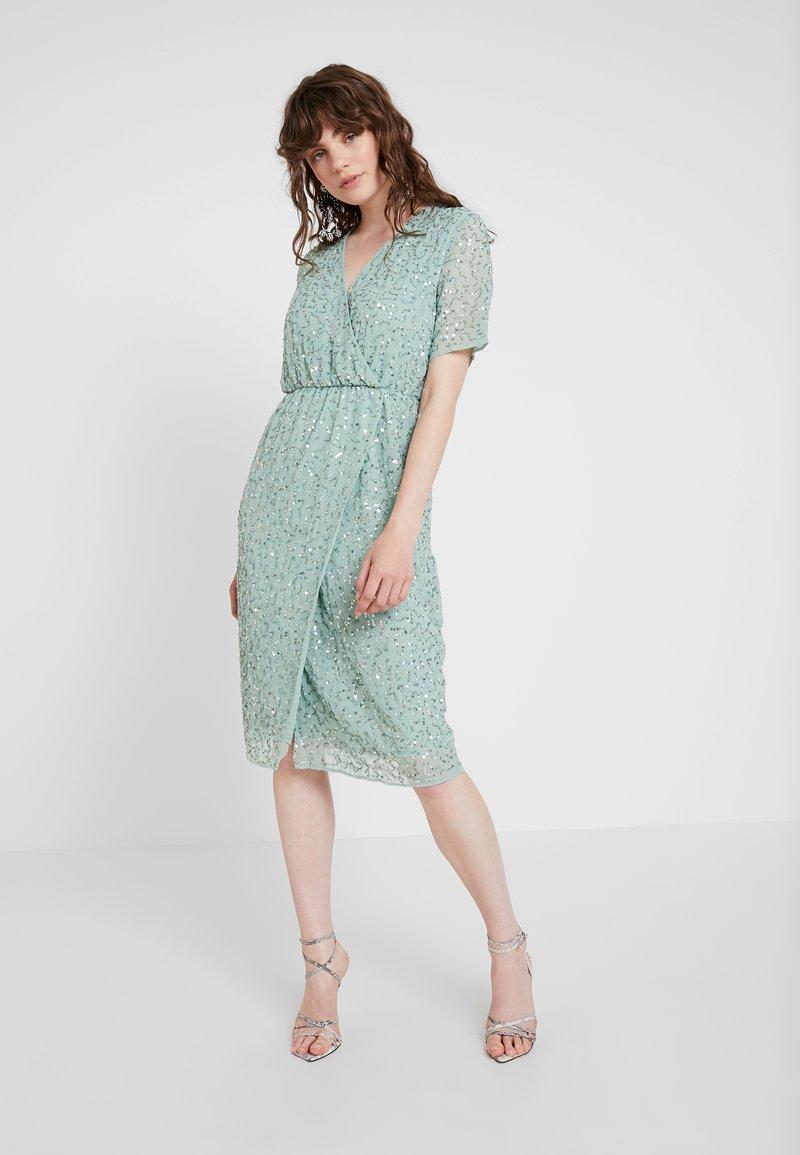 YAS - YASBEADO SEQUIN DRESS - Cocktailkleid/festliches Kleid - granite green