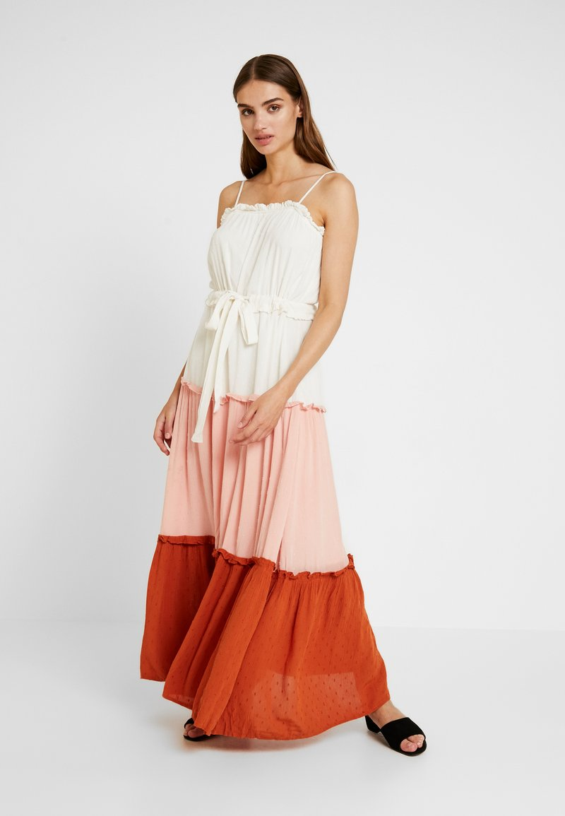 YAS - YASNIGIRI SLIP DRESS  - Maxikleid - star white