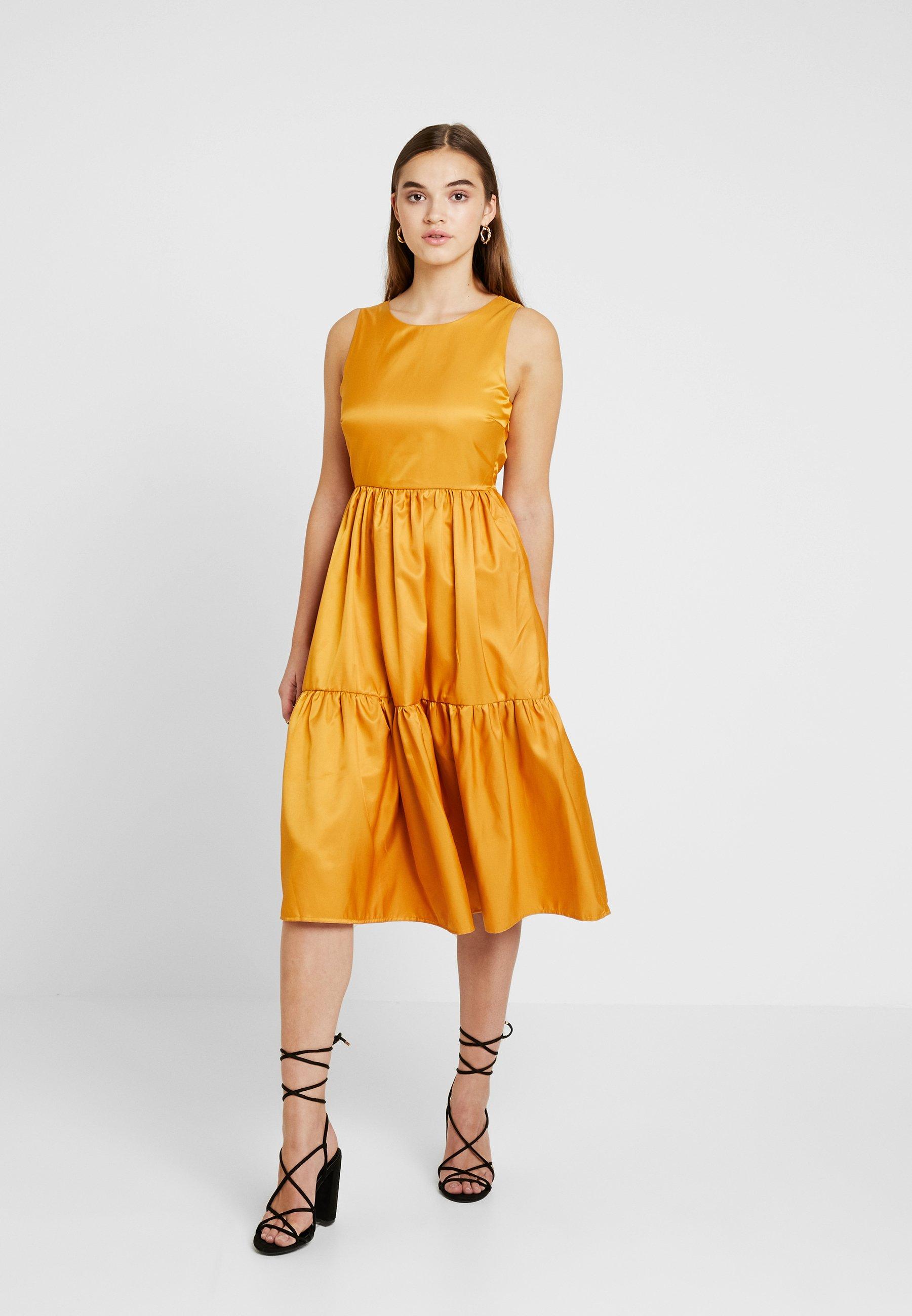 Midi D'été VipRobe Yolk Yellow Dress Yas Yasestelle 5ARSLcj3q4