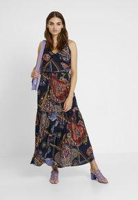 YAS - YASVINDA STRAP DRESS - Maxikjoler - dark blue - 1