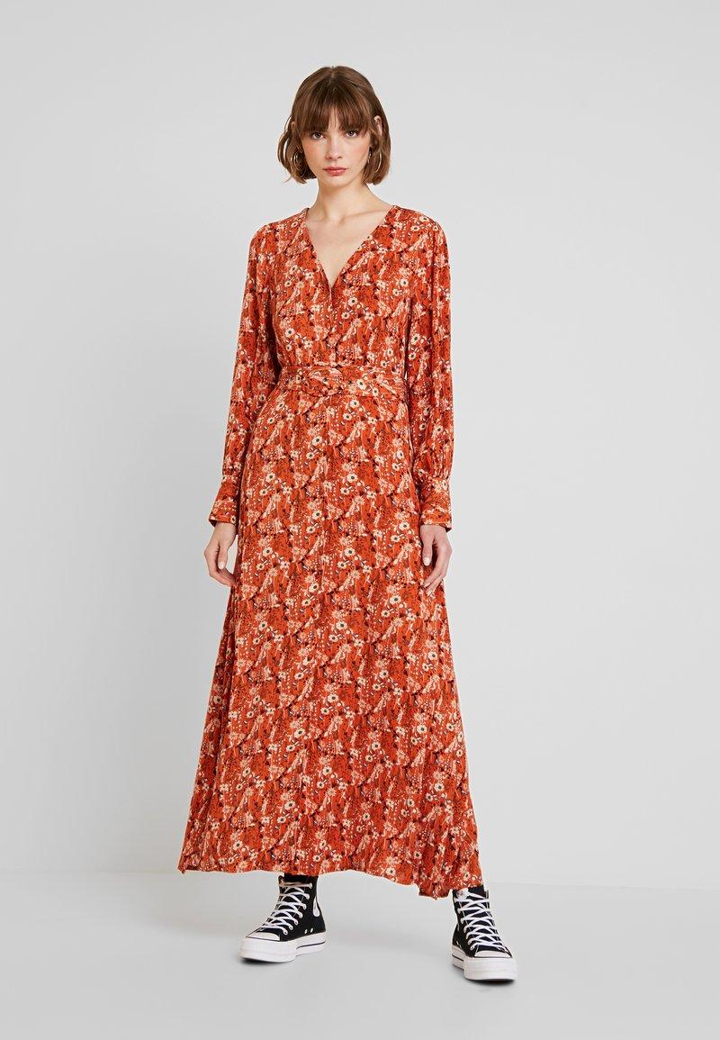YAS - YASKATHLEEN ANKLE DRESS - Maxi dress - rooibos tea