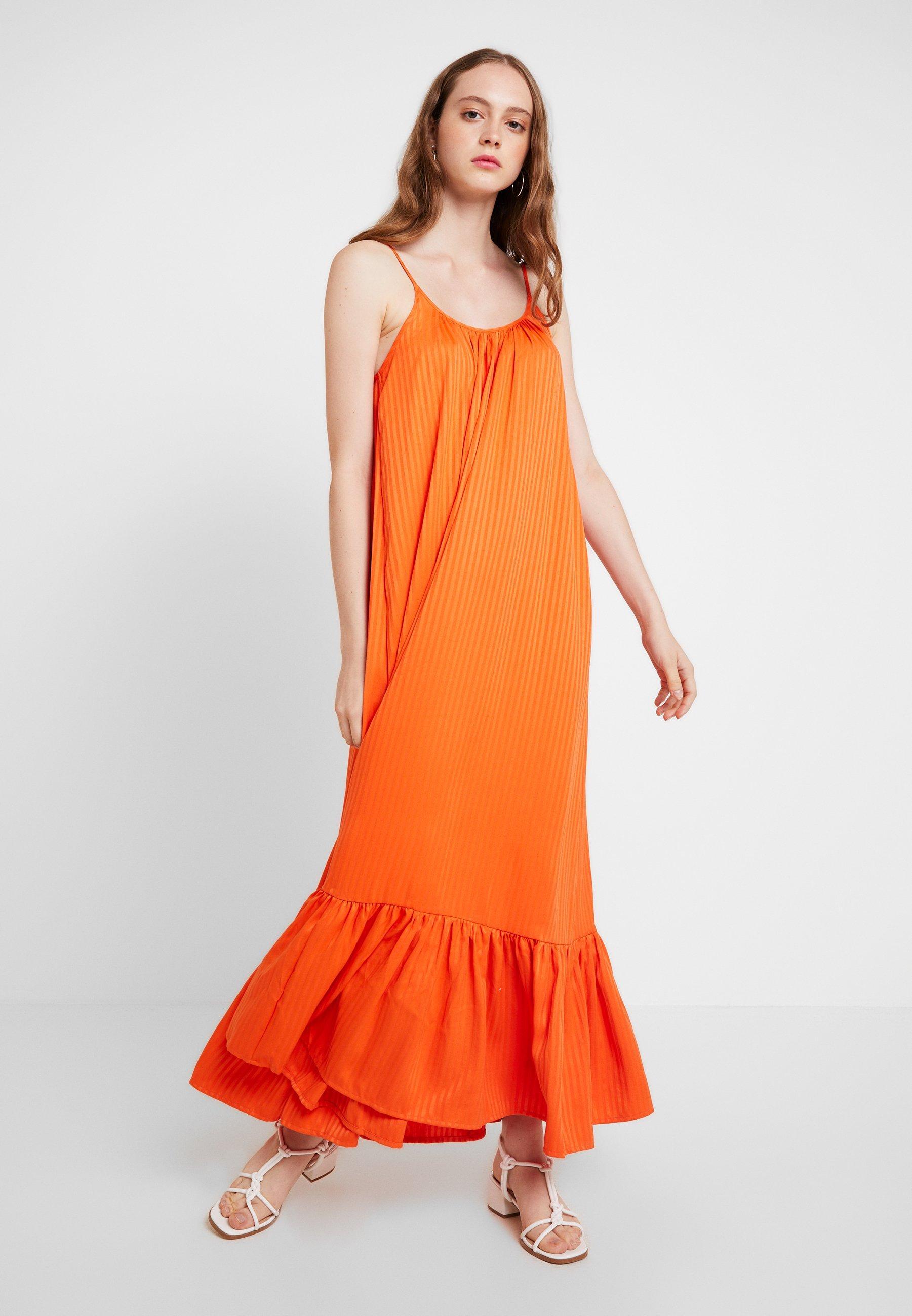 Yas Strap Tango Longue Yasleora DressRobe Tangerine gyv6IY7fbm
