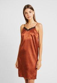 YAS - YASEMILY STRAP DRESS - Robe de soirée - coffee bean - 0
