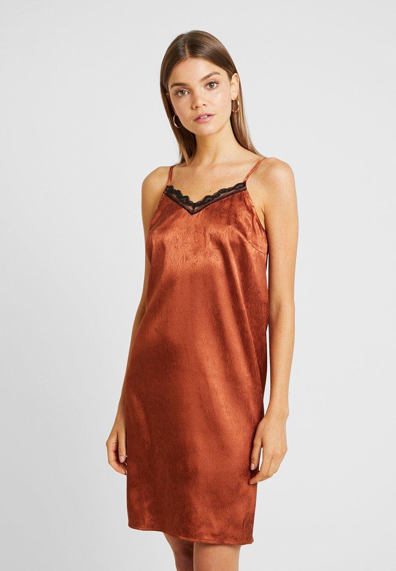 YAS - YASEMILY STRAP DRESS - Robe de soirée - coffee bean