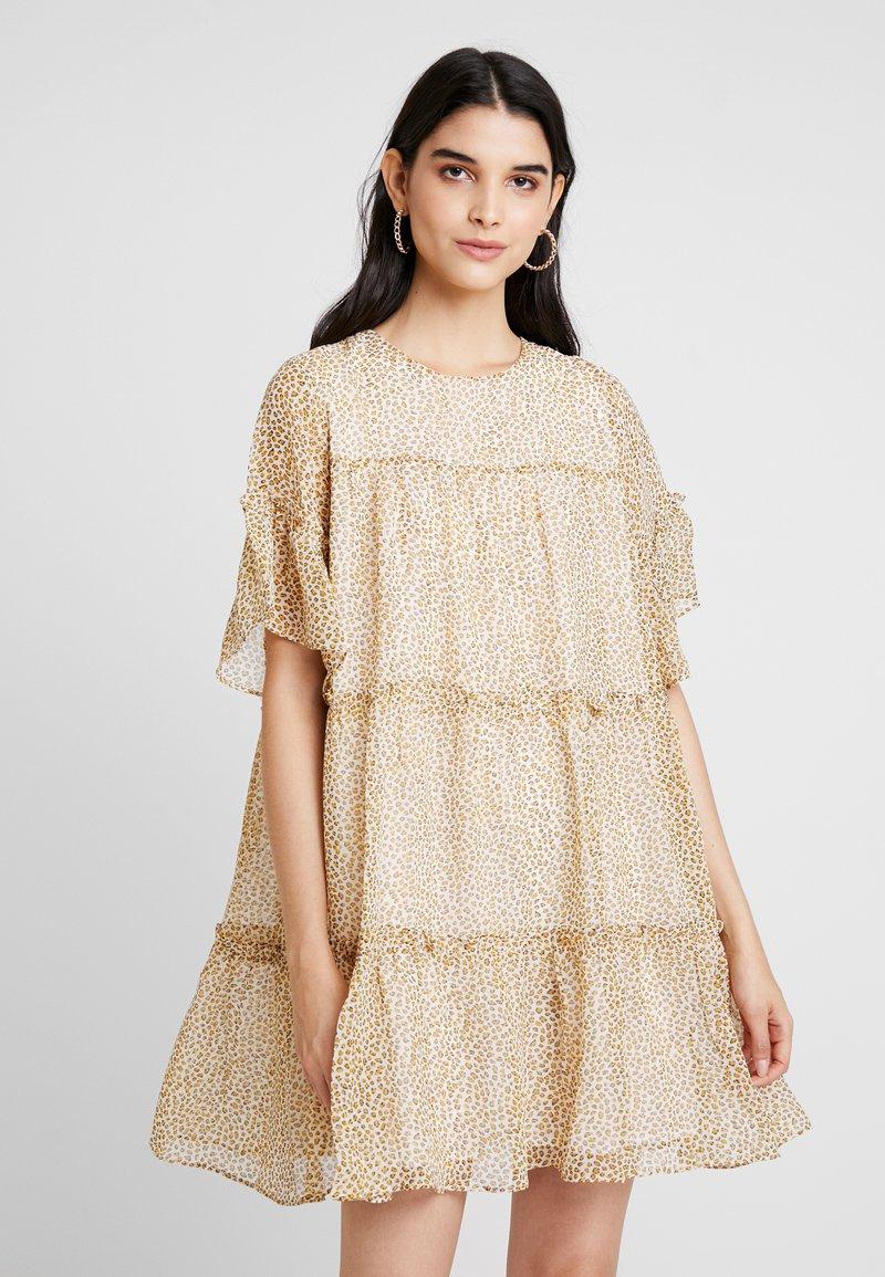 YAS - YASMARINA SHORT DRESS - Denní šaty - star white